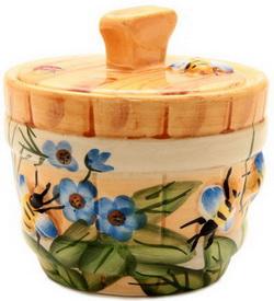Горшочек Пчелка на лугу 400 мл (для 530 г мёда)